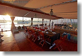 africa, dining, egypt, horizontal, la zuli, morning, tables, photograph