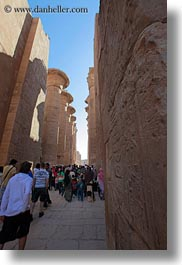 africa, crowds, egypt, karnak temple, luxor, pillars, vertical, photograph