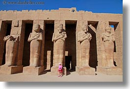 africa, egypt, girls, horizontal, karnak temple, luxor, pillars, pink, photograph