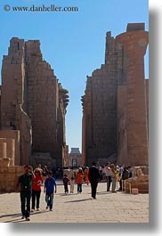 africa, egypt, entrance, karnak temple, luxor, vertical, walking, photograph