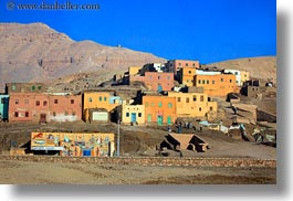 africa, buildings, colorful, egypt, horizontal, luxor, scenics, photograph