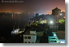 africa, egypt, foggy, horizontal, long exposure, luxor, nile, nite, scenics, ships, photograph