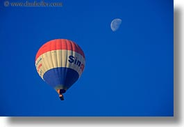 africa, air, balloons, egypt, horizontal, hot, luxor, moon, scenics, photograph