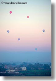 africa, air, balloons, egypt, hot, luxor, mountains, scenics, vertical, photograph