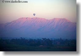 africa, air, balloons, egypt, horizontal, hot, luxor, mountains, scenics, photograph