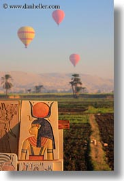 africa, air, balloons, egypt, hot, luxor, mountains, queen, scenics, vertical, photograph