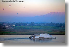 africa, air, balloons, egypt, horizontal, hot, luxor, mountains, scenics, ships, photograph
