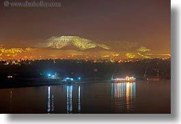 africa, egypt, horizontal, lighted, long exposure, luxor, mountains, scenics, photograph