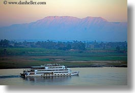 africa, egypt, horizontal, luxor, mountains, nile, rivers, scenics, ships, photograph
