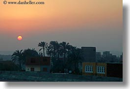 africa, arab, egypt, horizontal, houses, luxor, scenics, sunsets, photograph
