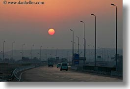 africa, egypt, highways, horizontal, luxor, scenics, sunsets, photograph
