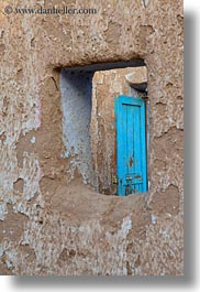 africa, blues, doors, egypt, holes, nubian village, vertical, photograph