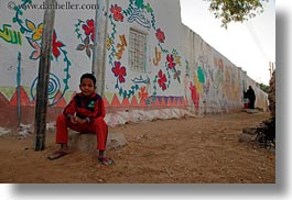 africa, childrens, egypt, horizontal, nubian village, paintings, photograph
