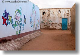 africa, colorful, egypt, frescoes, horizontal, nubian village, paintings, photograph