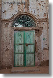 africa, doors, egypt, green, nubian village, vertical, photograph