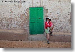 africa, doors, egypt, green, helenes, horizontal, nubian village, photograph