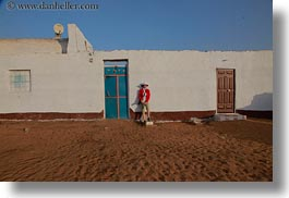 africa, blues, doors, egypt, helenes, horizontal, nubian village, photograph