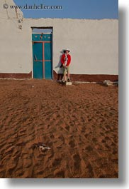 africa, blues, doors, egypt, helenes, nubian village, vertical, photograph