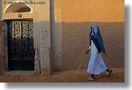 africa, cane, egypt, horizontal, men, nubian village, walking, photograph