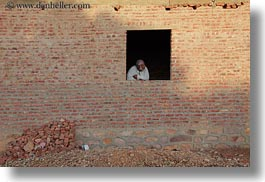 africa, bricks, egypt, horizontal, houses, men, nubian village, old, windows, photograph
