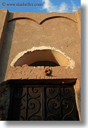 africa, doors, egypt, horns, nubian village, over, rams, vertical, photograph