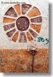 africa, egypt, nubian village, paintings, sun, vertical, photograph