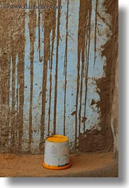 africa, buckets, egypt, nubian village, vertical, yellow, photograph