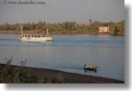 africa, boats, egypt, ferry, horizontal, rivers, rowboats, photograph