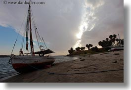 africa, cracked, egypt, horizontal, rivers, sailboats, sky, photograph