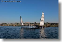 africa, egypt, horizontal, rivers, sailboats, photograph