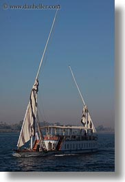 africa, egypt, rivers, sailboats, vertical, photograph