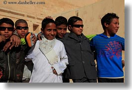 africa, arab, boys, egypt, horizontal, temple queen hatshepsut, photograph