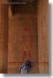 africa, arts, egypt, egyptian, temple queen hatshepsut, vertical, photograph