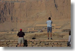 africa, egypt, horizontal, looking, people, temple queen hatshepsut, temples, photograph
