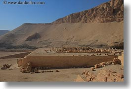 africa, architectural ruins, egypt, horizontal, temple queen hatshepsut, photograph
