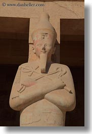 africa, egypt, statues, temple queen hatshepsut, vertical, photograph