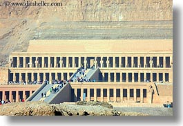 africa, egypt, horizontal, mountains, temple queen hatshepsut, temples, photograph