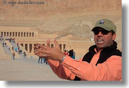 africa, ahmed, baseball cap, clothes, egypt, hats, horizontal, people, sunglasses, talking, tour guides, wt people, photograph