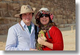 africa, carla, carla henry, clothes, couples, egypt, emotions, hats, henry, horizontal, people, pyramids, smiles, sunglasses, tourists, wt people, photograph