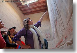 africa, bas reliefs, carla henry, egypt, gemni, horizontal, looking, slow exposure, tombs, womens, wt people, photograph