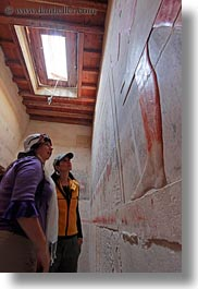 africa, bas reliefs, carla henry, egypt, gemni, looking, slow exposure, tombs, vertical, womens, wt people, photograph