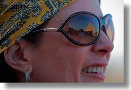 africa, egypt, horizontal, pyramids, reflections, sunglasses, victoria gurthrie, wt people, photograph