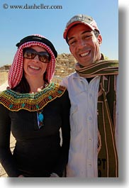 africa, clothes, egypt, emotions, keffiyeh, men, scarves, smiles, vertical, vicky, victoria gurthrie, wt people, photograph