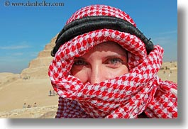 africa, clothes, egypt, horizontal, keffiyeh, red, scarves, vicky, victoria gurthrie, wt people, photograph