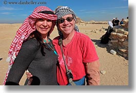 africa, clothes, egypt, emotions, horizontal, keffiyeh, pyramids, red, scarves, smiles, step, vicky, victoria gurthrie, wt people, photograph