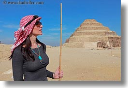 africa, clothes, egypt, horizontal, keffiyeh, pyramids, red, scarves, step, vicky, victoria gurthrie, wt people, photograph