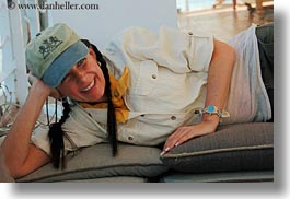 africa, baseball cap, clothes, egypt, emotions, hats, horizontal, reclining, smiles, vicky, victoria gurthrie, wt people, photograph