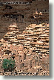 africa, cliffs, dogon, dwellings, mali, subsahara, vertical, photograph