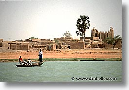 africa, horizontal, mali, mopti, mosques, rivers, subsahara, photograph