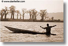 africa, fisher, horizontal, mali, rivers, sepia, subsahara, photograph